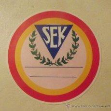 Coleccionismo deportivo: ADHESIVO COLEGIO SEK CIUDALCAMPO (MADRID) BALONCESTO 1988. Lote 28267017