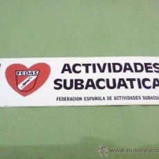 Coleccionismo deportivo: PEGATINA FEDAS. Lote 28463275