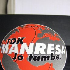 Coleccionismo deportivo: PEGATINA DEL TDK MANRESA. Lote 29569016