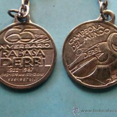Coleccionismo deportivo: LLAVERO DE MOTOCICLISMO. MOTO DERBI RABASA CAMPEONA MUNDO 1986 1987. . Lote 39261779