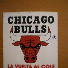 Coleccionismo deportivo: PEGATINA BALONCESTO NBA CHICAGO BULLS. AÑOS 80. Lote 31927370