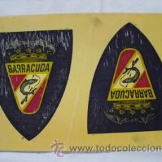 Coleccionismo deportivo: DOS ESCUDOS DE BARRACUDA PESCA SUBMARINA VALENCIA. Lote 32486247