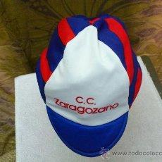 Coleccionismo deportivo: GORRA DE CICLISMO DEL CLUB CICLISTA ZARAGOZANO DE ZARAGOZA TALLA 3. Lote 32595112