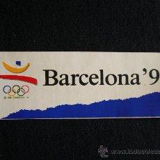Coleccionismo deportivo: PEGATINA BARCELONA 92. JUEGOS OLÍMPICOS. JAC.. Lote 32635882