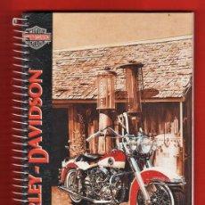 Coleccionismo deportivo: LIBRETA 4º - MOTORISMO - HARLEY DAVIDSON - ESPIRAL - 80 HOJAS CADRICULA - TAPA DURA - AÑOS 90. Lote 33230679
