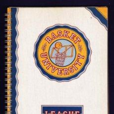 Coleccionismo deportivo: LIBRETA 4º - BALONCESTO / BASKET - UNIVERSITY LEAGUE - ESPIRAL - 80 HOJAS CADRICULA - AÑOS 80. Lote 33230688