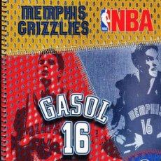 Coleccionismo deportivo: LIBRETA FOLIO - NBA - PAU GASOL -/ MEMPHIS - ESPIRAL - 80 HOJAS CADRICULA - TAPA DURA - AÑOS 2000. Lote 33233004