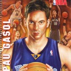 Coleccionismo deportivo: LIBRETA FOLIO - NBA - PAU GASOL -/ MEMPHIS - ESPIRAL - 80 HOJAS CADRICULA - TAPA DURA - AÑOS 2000. Lote 33233018