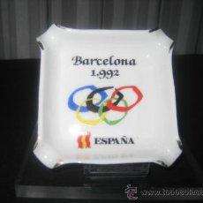 Coleccionismo deportivo: CENICERO PORCELANA. JUEGOS OLIMPICOS, OLIMPIADAS BARCELONA 1992. Lote 34703665