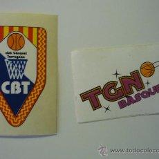 Coleccionismo deportivo: LOTE DOS PEGATINAS ADHESIVOS EQUIPOS BALONCESTO DE TARRAGONA. Lote 35041955