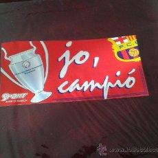 Coleccionismo deportivo: ADHESIVO PEGATINA JO CAMPIÓ COPA DE EUROPA BARÇA FÚTBOL CLUB FC CF BARCELONA. Lote 35629282