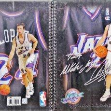 Coleccionismo deportivo: LIBRETA - BALONCESTO NBA - LOPEZ / JAZZ - 4º - 80 HOJAS CUADRICULADAS - FAB ENRI - AÑOS 90. Lote 35905969