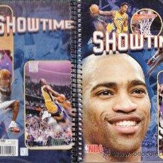 Coleccionismo deportivo: LIBRETA - BALONCESTO NBA - SHOWTIME / RAPTORS - 4º - 80 HOJAS CUADRICULA - TAPA DURA - ENRI -AÑOS 90. Lote 35905975