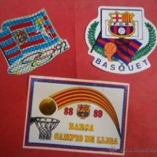 Coleccionismo deportivo: LOTE PEGATINAS BALONCESTO FUTBOL CLUB BARCELONA 1988 1989 1992. BASKET RETRO. Lote 39501827