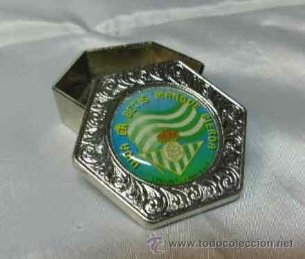 Coleccionismo deportivo: caja metalica - del real betis balompie - Foto 2 - 40031612