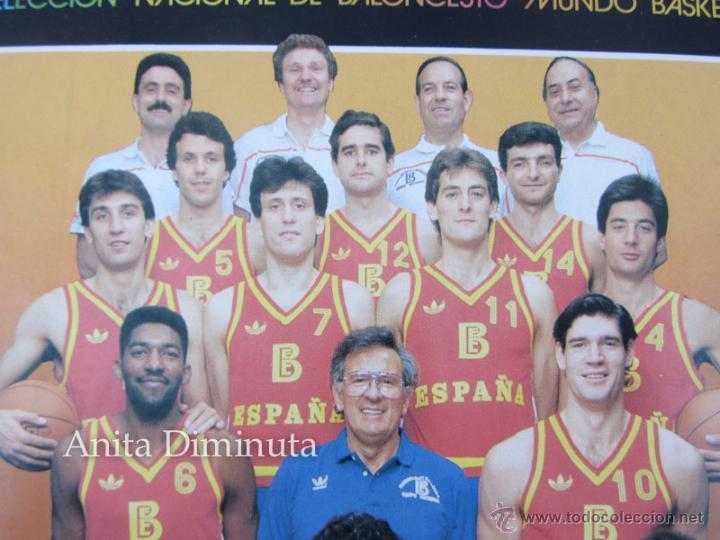 Coleccionismo deportivo: ANTIGUA Y GENIAL PEGATINA DEL MUNDO BASKET DE 1986 - SELECCION NACIONAL BALONCESTO - BANCO EXTERIOR - Foto 2 - 40570773