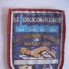 Coleccionismo deportivo: SINDICATO VERTICAL: SABADELL , 1957. XVI CAMPEONATOS NACIONALES DE NATACION. .EDUCACION Y DESCANSO. Lote 40639955