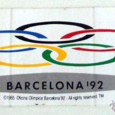 Coleccionismo deportivo: PEGATINA JUEGOS OLIMPICOS BARCELONA 92 OLYMPIC GAMES STICKER VINTAGE. Lote 41522898