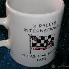 Coleccionismo deportivo: X.RALLYE INTERNACIONAL RÍAS BAJAS.1972.ESCUDERÍA VIGO. JARRA CERVEZA,ENTREGADO PILOTOS. ENVÍO PAGO. Lote 41678059