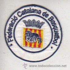Coleccionismo deportivo: PARCHE DE FELTA ROPA - DE LA FEDERACIÓN CATALANA DE BASQUET - BASQUETBOL - BALONCESTO. Lote 41816991