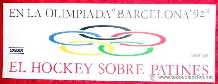 Pegatina Juegos Olimpicos Barcelona 92 Hockey S Comprar