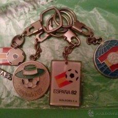Coleccionismo deportivo: LOTE 4 LLAVEROS MUNDIAL FUTBOL ESPAÑA 82. Lote 43520958