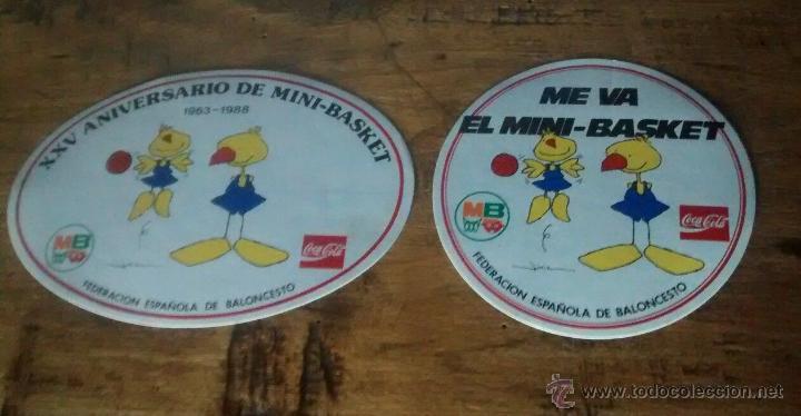 PEGATINAS XXV ANIVERSARIO MINI-BASKET 1988 FEDERACIÓN ESPAÑOLA COCA-COLA (Coleccionismo Deportivo - Merchandising y Mascotas - Otros deportes)