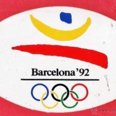 Collectionnisme sportif: ADHESIVO / PEGATINA - OLIMPIADA / JUEGOS OLIMPICOS - BARCELONA 92 - LOGOTIPO - SIN PEGAR - AÑO 199. Lote 44432495