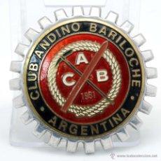 Coleccionismo deportivo: CHAPA ESMALTE CLUB ANDINO BARILOCHE 1931 ARGENTINA. Lote 44759236