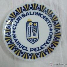 Coleccionismo deportivo: BASKET PLATO SARGADELOS CLUB BALONCESTO MANUEL PELETEIRO A.D.. Lote 44938050