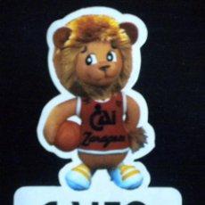 Coleccionismo deportivo: PEGATINA STICKER CAITO MASCOTA CAI ZARAGOZA BALONCESTO BASKET AÑOS 80. Lote 45507951