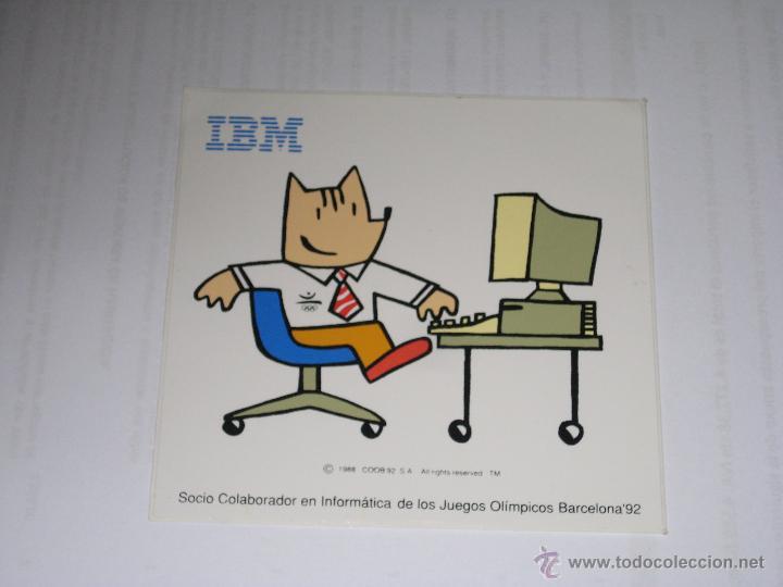 ADHESIVO COBI BARCELONA 92 JUEGOS OLIMPICOS IBM SOCIO INFORMATICO (Coleccionismo Deportivo - Merchandising y Mascotas - Otros deportes)