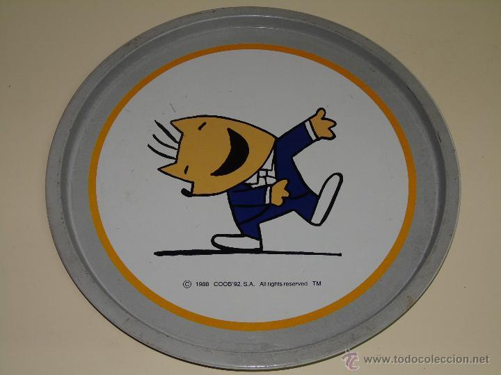 GRAN BANDEJA DE METAL. JUEGOS OLÍMPICOS BARCELONA 92 1992. COBI. 28,5 CM (Coleccionismo Deportivo - Merchandising y Mascotas - Otros deportes)