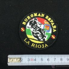 Coleccionismo deportivo: PARCHE TELA BURGMAN ESPAÑA - LA RIOJA - CAR61. Lote 48451721