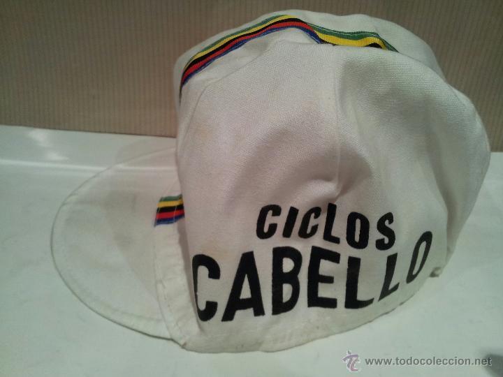 ANTIGUA GORRA DE CICLISMO CICLOS CABELLO VER FOTOS (Coleccionismo Deportivo - Merchandising y Mascotas - Otros deportes)