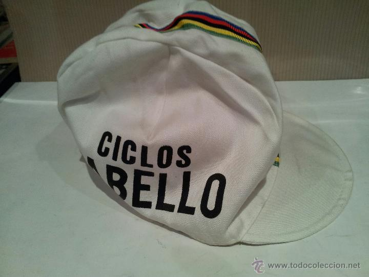 Coleccionismo deportivo: antigua gorra de ciclismo ciclos cabello ver fotos - Foto 2 - 48720314