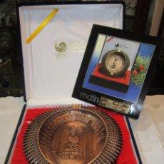 Coleccionismo deportivo: REBAJADO CENICERO DE BRONCE DE LAS OLIMPIADAS SEUL 1988. GRAN PIEZA. CON SU ESTUCHE.. Lote 50146669