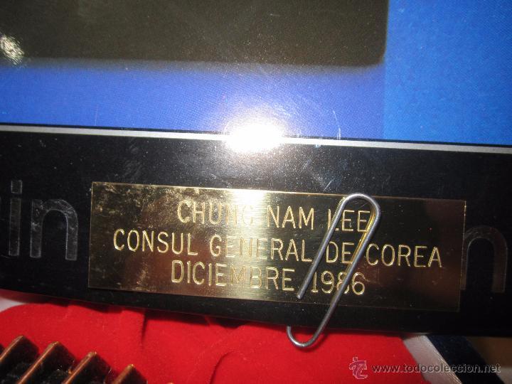 Coleccionismo deportivo: Rebajado Cenicero de bronce de las Olimpiadas Seul 1988. Gran pieza. Con su estuche. - Foto 3 - 50146669