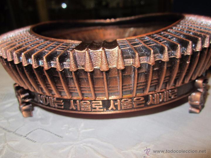 Coleccionismo deportivo: Rebajado Cenicero de bronce de las Olimpiadas Seul 1988. Gran pieza. Con su estuche. - Foto 5 - 50146669