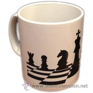 CHESS. TAZA DE AJEDREZ DESCATALOGADO !!! (UNICA) (Coleccionismo Deportivo - Merchandising y Mascotas - Otros deportes)