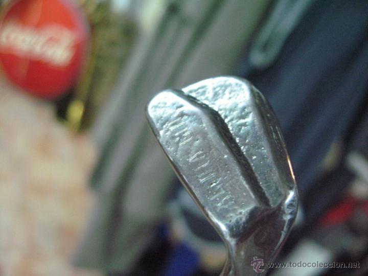 Coleccionismo deportivo: palo de golf metal macizo casa valenti barcelona grabado aloha golf 28,5 cm. - Foto 4 - 50463972