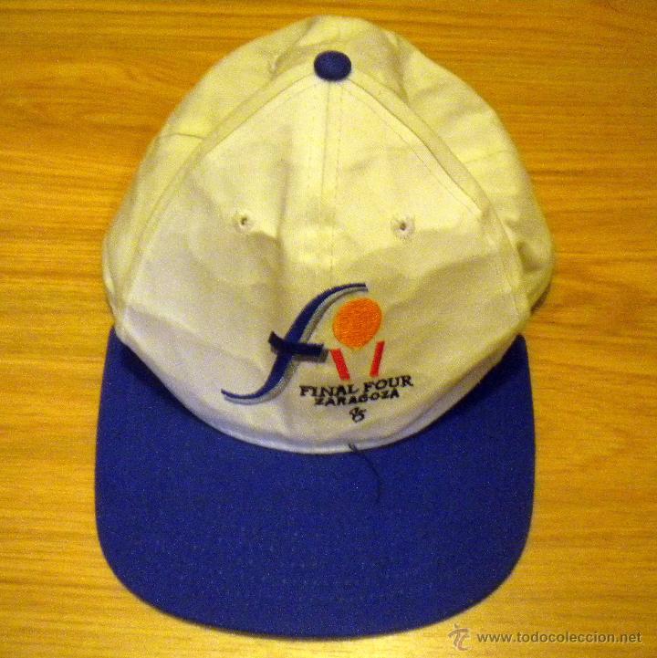 GORRA BALONCESTO BASKET FINAL FOUR ZARAGOZA 1995 REAL MADRID CAMPEON 4348bbffa08