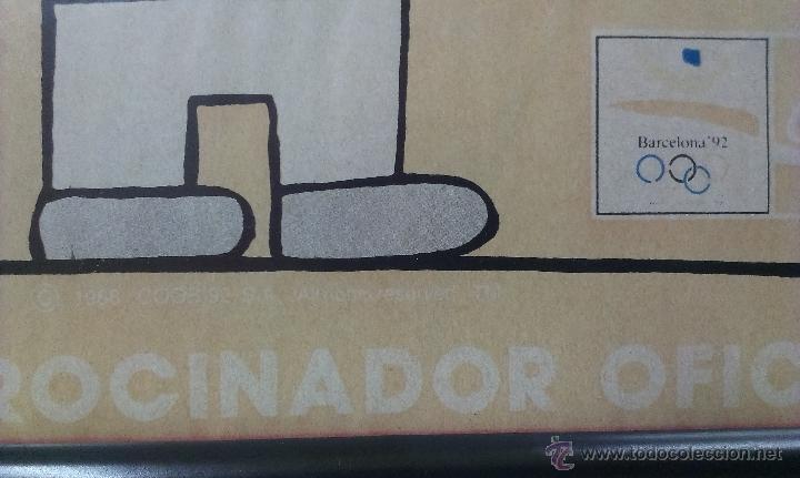 Coleccionismo deportivo: LAMINA ENMARCADA DE COBI . MASCOTA OFICIAL DE LOS JUEGOS OLIMPICOS . BARCELONA 1992 - Foto 4 - 51229290