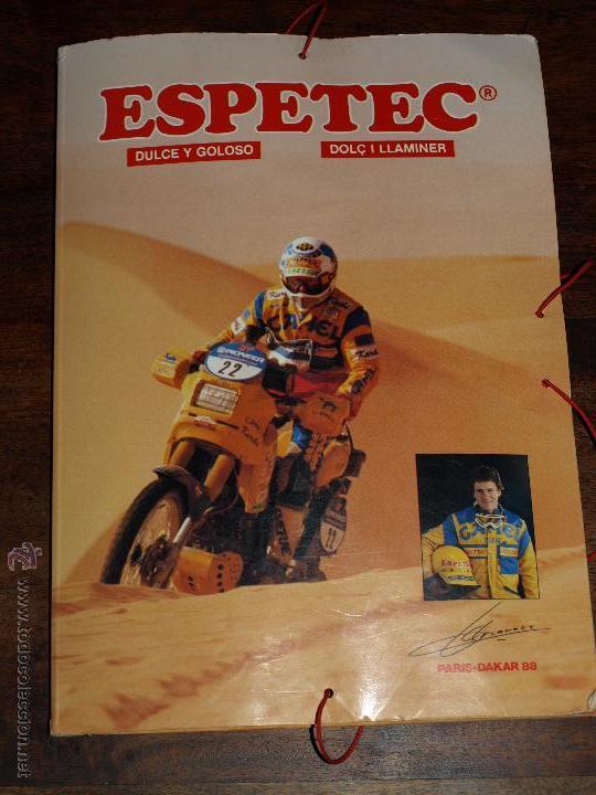 CARPETA ESPETEC RALLY PARIS-DAKAR 88. 33 X 23,5 CM. VER FOTOS Y DESCRIPCION. (Coleccionismo Deportivo - Merchandising y Mascotas - Otros deportes)