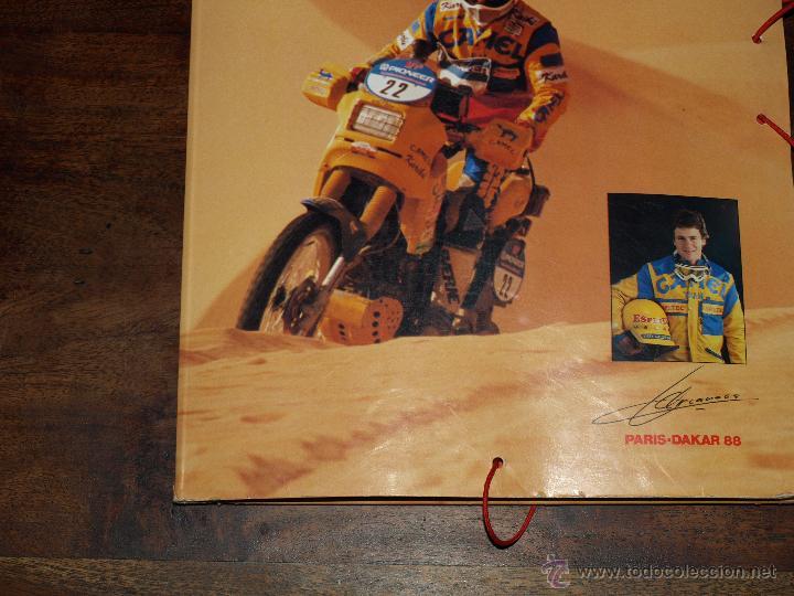Coleccionismo deportivo: CARPETA ESPETEC RALLY PARIS-DAKAR 88. 33 X 23,5 CM. VER FOTOS Y DESCRIPCION. - Foto 4 - 51786466