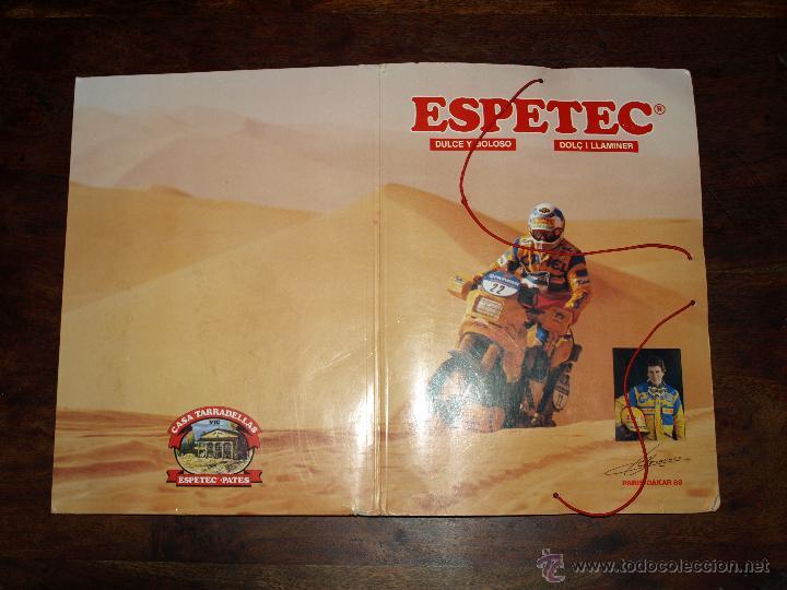 Coleccionismo deportivo: CARPETA ESPETEC RALLY PARIS-DAKAR 88. 33 X 23,5 CM. VER FOTOS Y DESCRIPCION. - Foto 13 - 51786466
