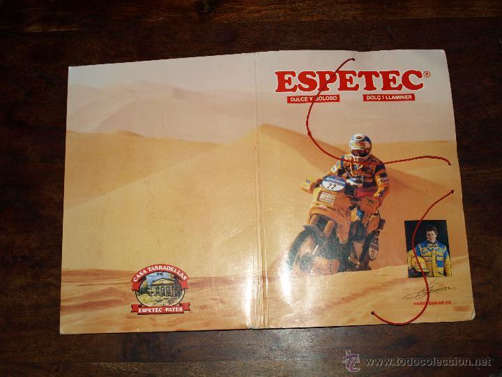 Coleccionismo deportivo: CARPETA ESPETEC RALLY PARIS-DAKAR 88. 33 X 23,5 CM. VER FOTOS Y DESCRIPCION. - Foto 17 - 51786466