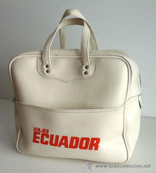 ANTIGUA BOLSA DE DEPORTES DE VIAJES ECUADOR (Coleccionismo Deportivo - Merchandising y Mascotas - Otros deportes)