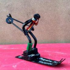 Coleccionismo deportivo: ESCULTURA FIGURA ESQUI ESQUIADOR JUGADOR BAQUEIRA BERET SALARDU DECORACION VINTAGE BARCELONA. Lote 53542598