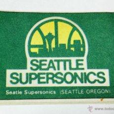 Coleccionismo deportivo: PEGATINA DE SEATTLE SUPERSONICS (SEATTLE OREGON) - BALONCESTO - NBA - BASKET - AÑOS 80. Lote 53592016